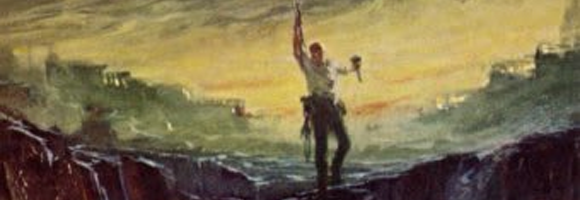 Detail of the first-edition cover of 'I am Legend' (Matheson 1954)
