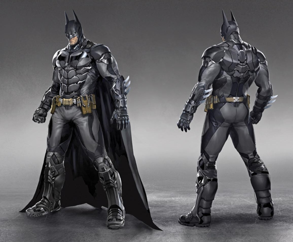 The design of Batman in 'Batman: Arkham Knight'