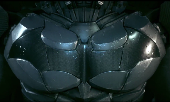 Batman's breastplate in 'Batman: Arkham Knight'