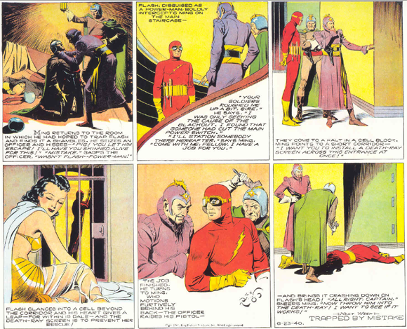 The 23 June 1940 King Features Flash Gordon Sunday strip by Alex Raymond