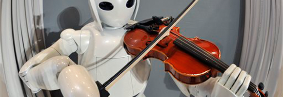 Toyota Partner Robot playing the violin