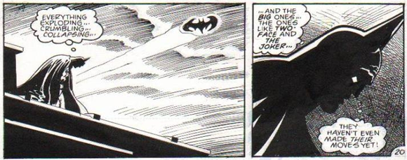 Batman pencilled by Jim Aparo and inked by Tom Mandrake