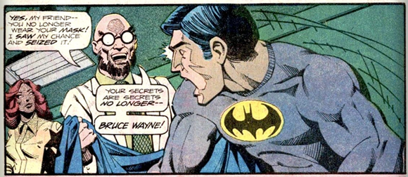 Batman unmasked by Hugo Strange