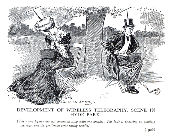 Cartoon by Lewis Baumer (1870-1963), first published in Punch in 1906