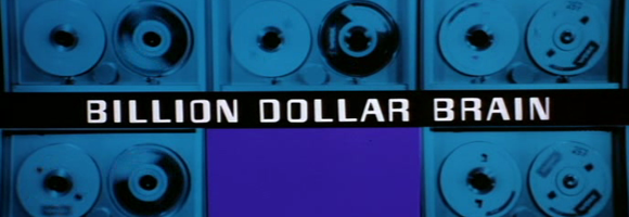 "Title screen of the movie ""Billion Dollar Brain"" (Russell 1967)"