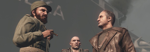 Fidel Castro with some Soviet liaison goons in 'Call of Duty: Black Ops' (Treyarch 2010)