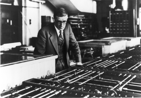 Vannevar Bush (1890-1974) with the Differential Analyzer at MIT