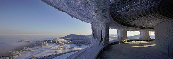 The gallery of the Buzludzha monument photographed by Timothy Allen