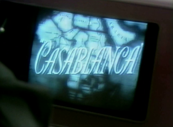 Title screen of 'Casablanca' (Curtiz 1942) within anothe movie ...