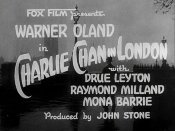 Title card of 'Charlie Chan in London' (Forde 1934)