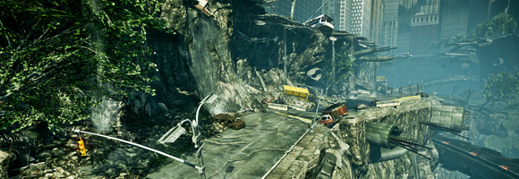 The devastated Madison Square in Crysis 2