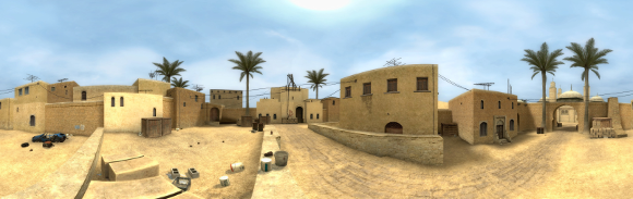 Panorama by Zalandael of the 'Counter-Strike: Source' map de_dust