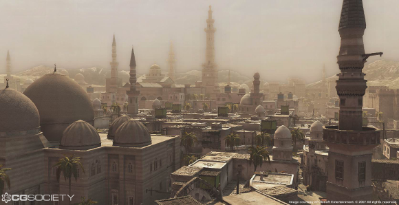 A vista of Damascus from 'Assassin's Creed' (Ubisoft Montreal 2007)