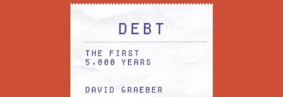 Detail of the cover of 'Debt: The first 5,000 years' (Graeber 2011)