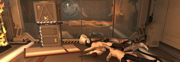 The first objects you encounter in Deus Ex: Human Revolution which you can manipulate