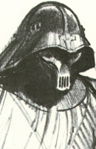 An early sketch of Darth Vader by Ralph McQuarrie