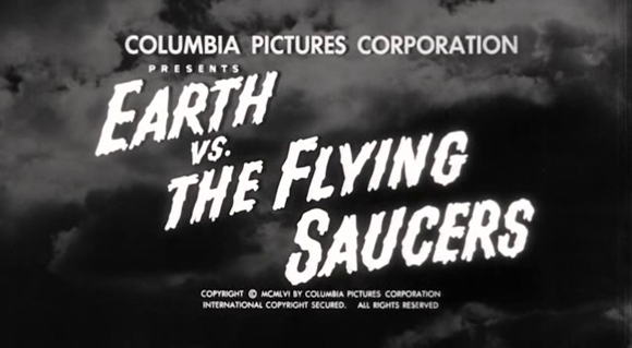 Titlecard of 'Earth vs. the Flying Saucers' (Sears 1956)