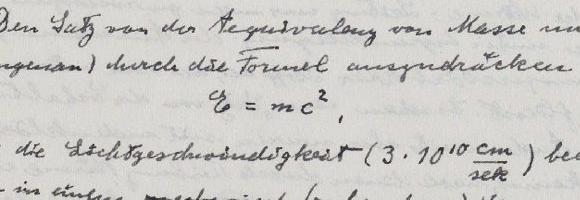 Einstein manuscript