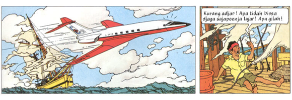 Panel taken  from page 15 of Hergé 1968 [1966-1968].