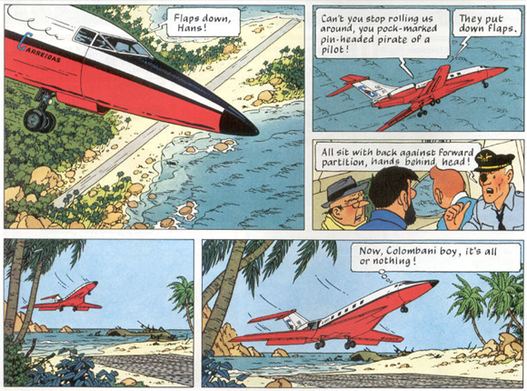 Panel taken  from page 16 of Hergé 1968 [1966-1968].