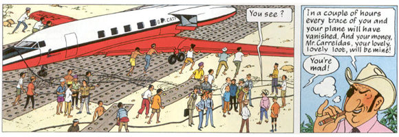 Panel taken  from page 20 of Hergé 1968 [1966-1968].