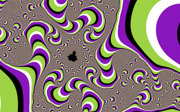 A fractal optical illusion