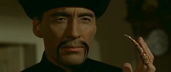Christopher Lee as Dr. Fu Manchu in 'The Face of Fu Manchu' (Sharp 1965)