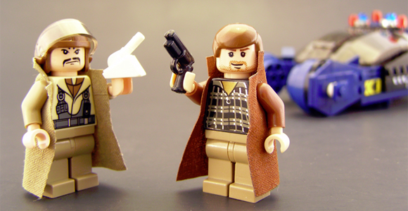 Gaff and Deckard minifigures by Legohaulic