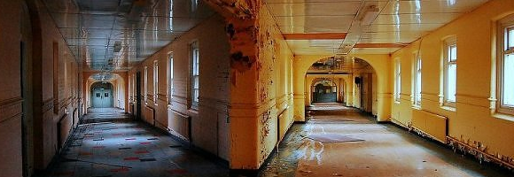 Detail of a photography phil.d took inside High Royds Asylum