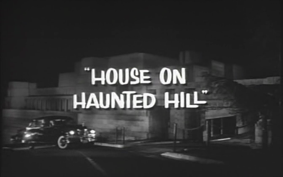 "The opening title of the movie ""House on Haunted Hill"" (Castle 1959)"