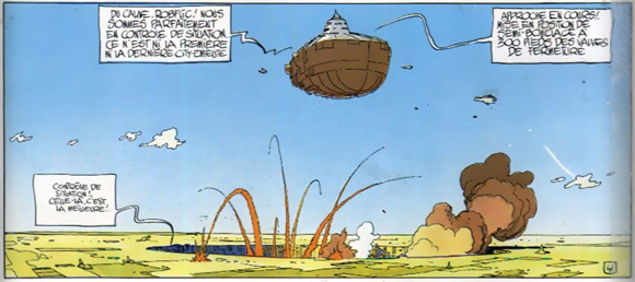 Panel from page 48 of 'L'Incal Noir' (Jodorowsky & Moebius 1981)