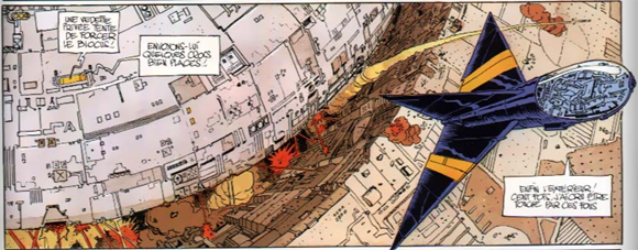 Panel from page 50 of 'L'Incal Noir' (Jodorowsky & Moebius 1981)