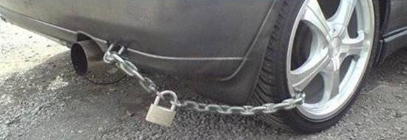 A car lock in India