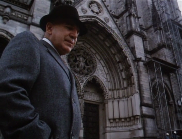 Kojak at the Cathedral Church of St John the Divine, 1047 Amsterdam Ave, Manhattan, New York City in 'The Belarus File' (Markowitz 1985).