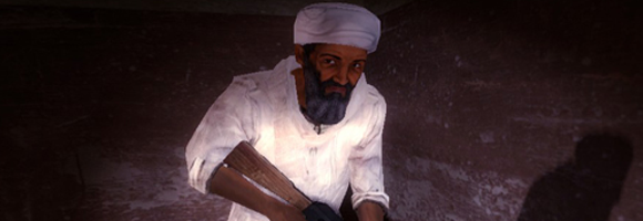 Osama Bin Laden as depicted in the computer game Kuma\War
