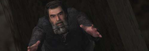 Saddam Hussein as depicted in the computer game Kuma\War