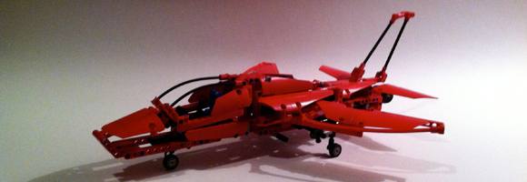 LEGO Technic set 9394 'Jet Plane' assembled