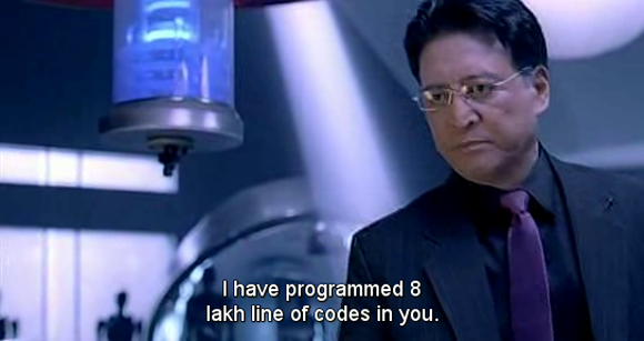Scene from 'Endhiran' (Shankar 2010)