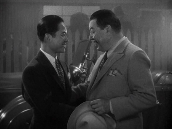 Keye Luke and Warner Oland in 'Charlie Chan in Shanghai' (Tinling 1935)