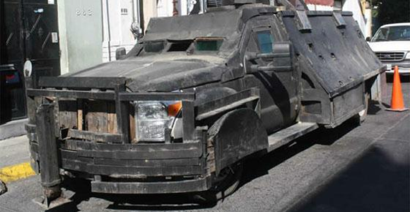 Armored truck in Mexico