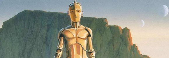 Early production sketch of C3P-O by Ralph McQuarrie