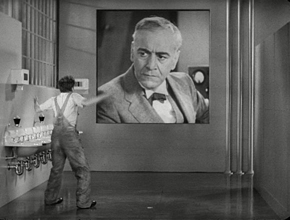 A still from Charlie Chaplin's 'Modern Times' (1936)