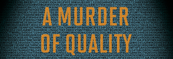 Detail of the cover of the Penguin edition of 'A Murder of Quality' (le Carré 1962)