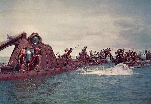 Captain Nemo's 'Nautilus' attacked by cannibals