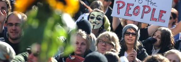 Guy Fawkes in Frankfurt (sporting Matrix shades ;-) on 15 October 2011