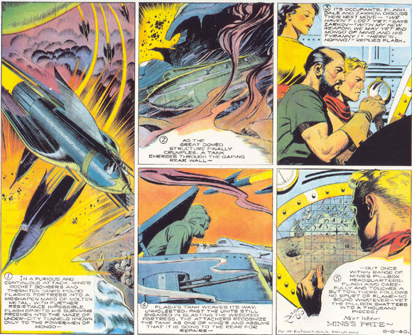 The 'Flash Gordon' Sunday strip of 08 September 1940 by Alex Raymond