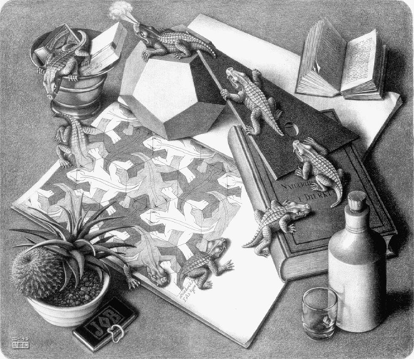 'Reptilien' by M. C. Escher, 1943