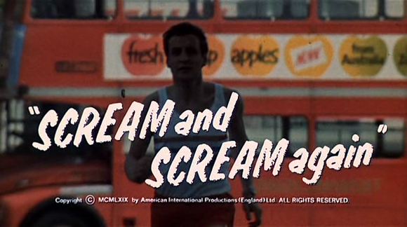 Title card of 'Scream and Scream Again' (Hessler 1970)