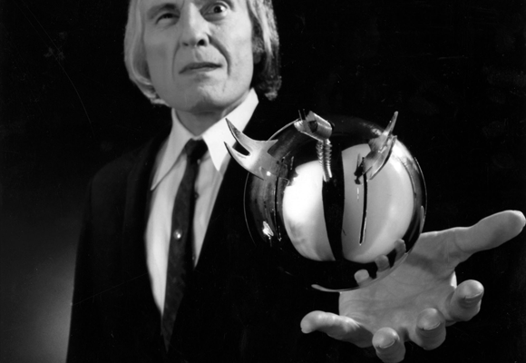 The Tall Man (Angus Scrimm) and his silver sphere