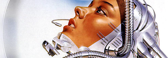 A sexy robot/android/gynoid/cyborg by Hajime Sorayama